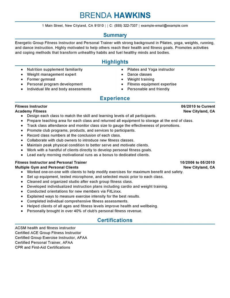 Fitness Instructor Job Descriptions Charlotte Clergy