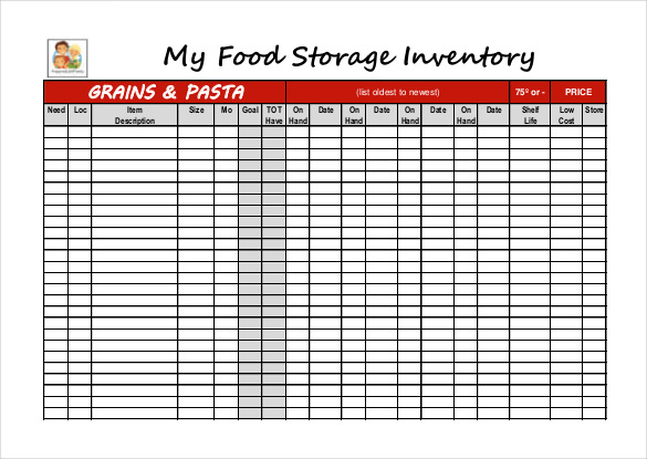 food inventory template This Is Why Food Inventory Template