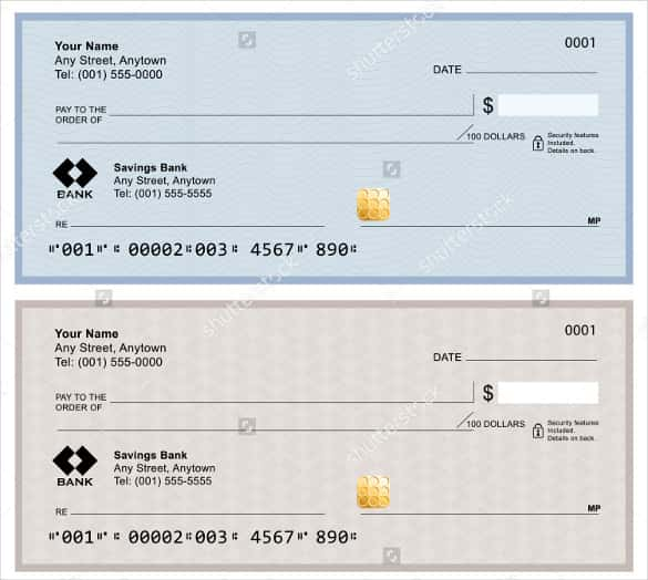Blank Check Template – 28+ Free Word, PSD, PDF & Vector Formats