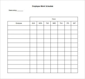 free employee work schedules charlotte clergy coalition