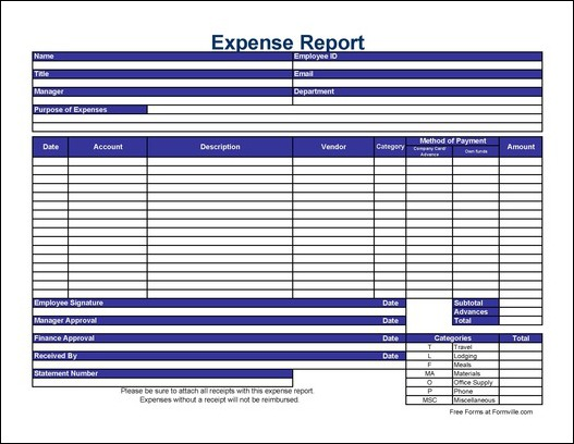 microsoft word expense report template expense report free