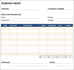 free expenses report template charlotte clergy coalition