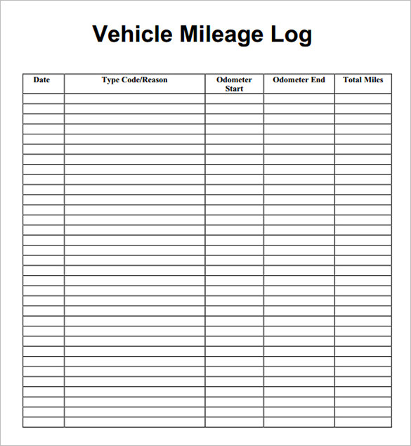 8 Mileage Log Templates Free Word Excel Pdf Documents Mileage Logs