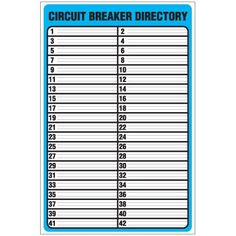 Organize & Label Your Circut Breaker box with free circuit label