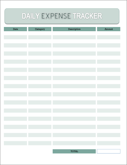 Free Daily Expense Tracker Excel Spreadsheet and Printable PDF