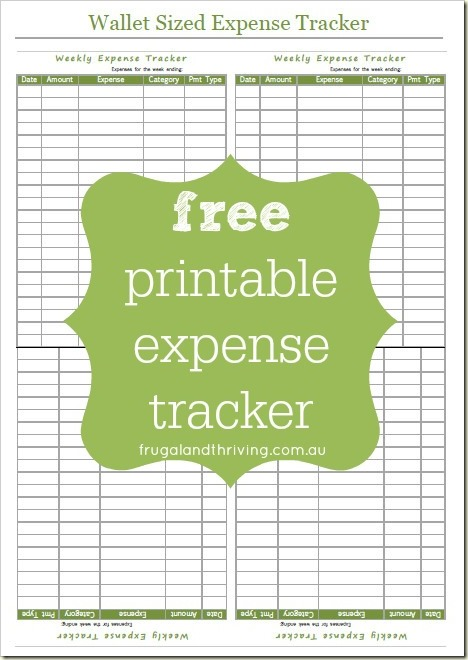 Free Printable Expense Tracker   Take Control of Your Spending