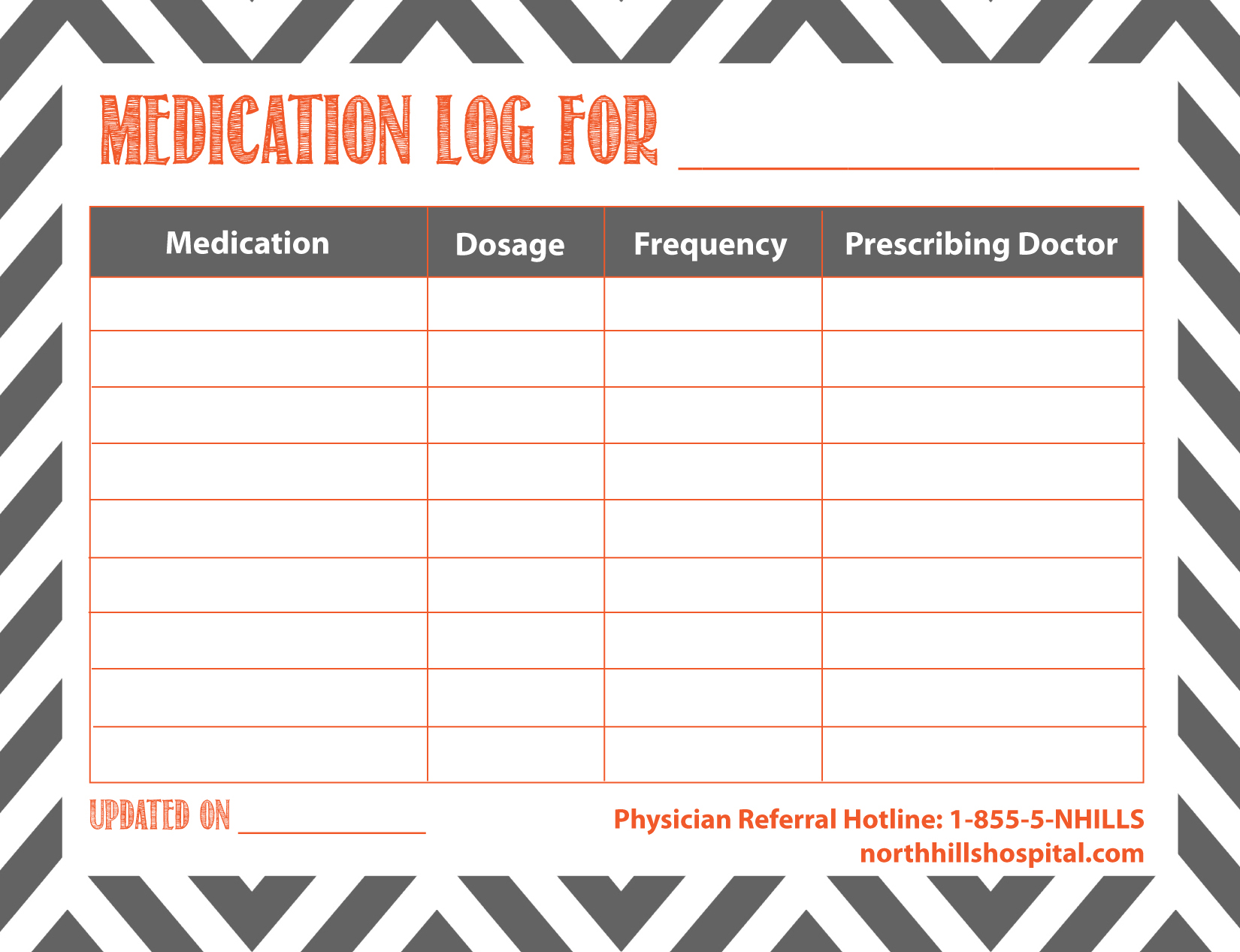 free printable medication log charlotte clergy coalition
