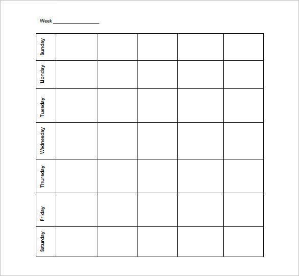 Blank Schedule Template – 21+ Free Word, Excel, PDF Format