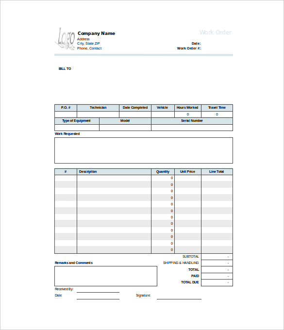 printable work orders   April.onthemarch.co