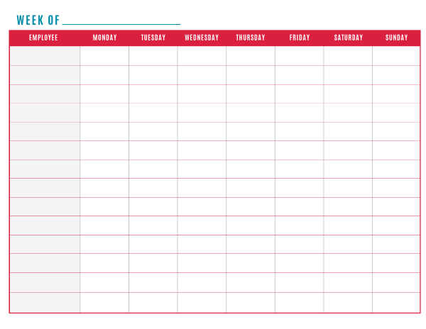 free work schedule maker template   Kleo.beachfix.co