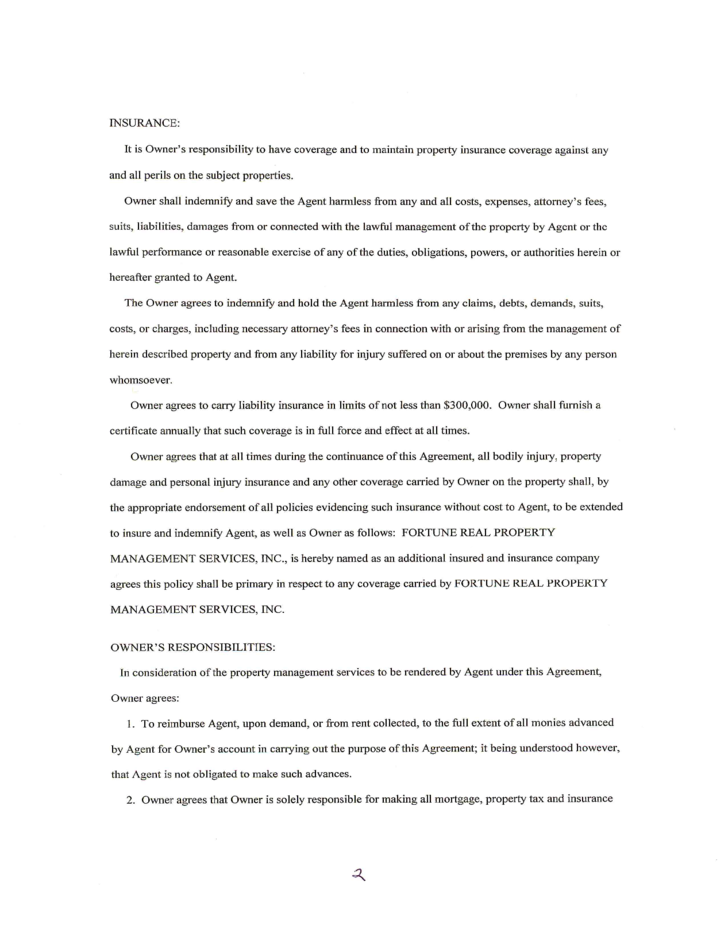 Free Property Management Agreement Template