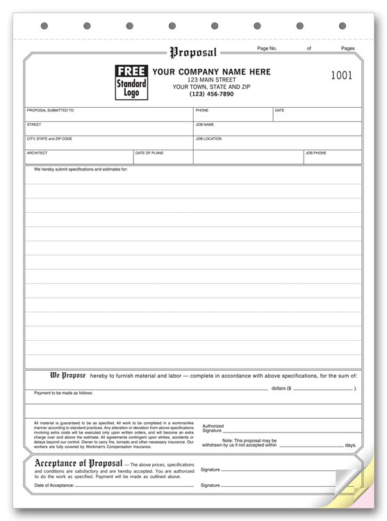 Contractor Forms Templates Best Photos Of Free Printable Proposal