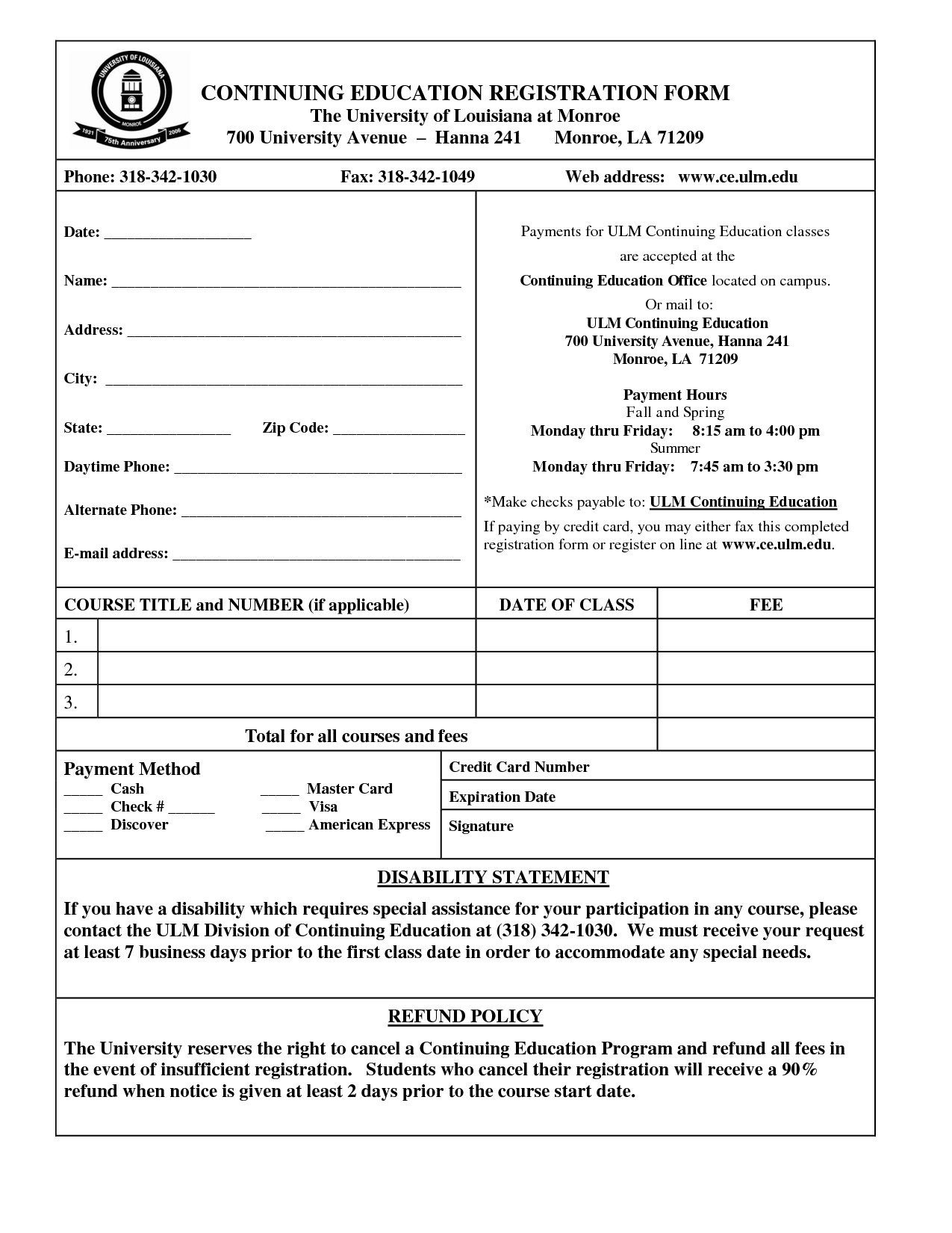 Free Registration Form Template | charlotte clergy coalition