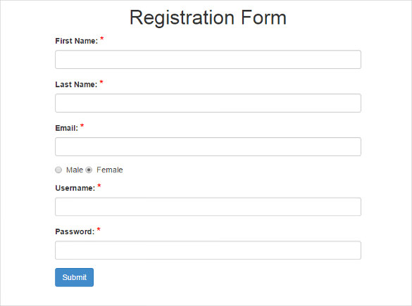 Free Registration Form Templates | charlotte clergy coalition