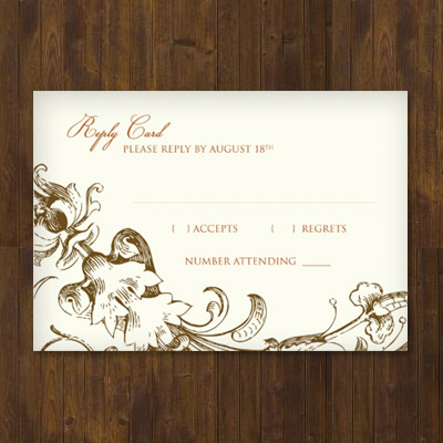 Free Wedding Templates: RSVP & Reception Cards   Katie's Crochet