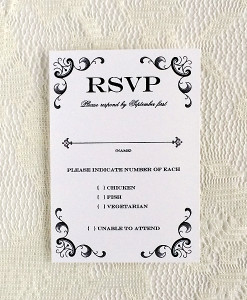 RSVP Card Template with Retro Typography | Pinterest | Retro