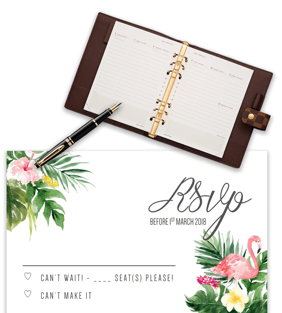 RSVP Card Templates (Free) | Greetings Island