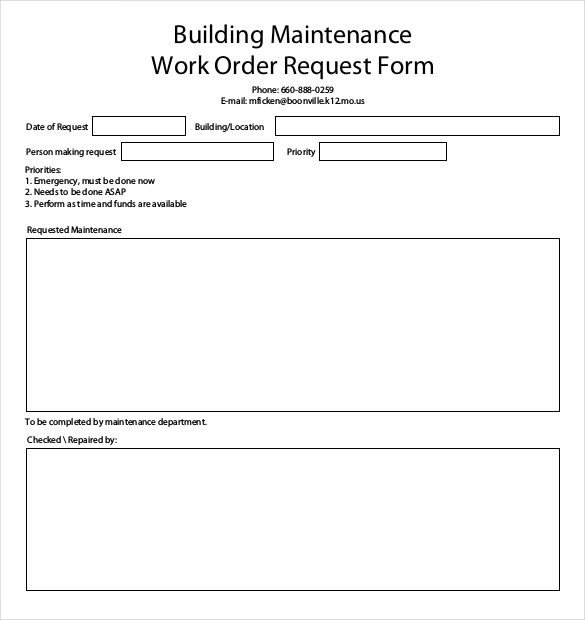 work order form template pdf   Kleo.beachfix.co