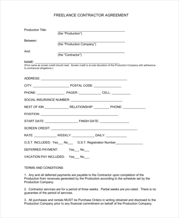 freelance video contract template charlotte clergy coalition. Black Bedroom Furniture Sets. Home Design Ideas