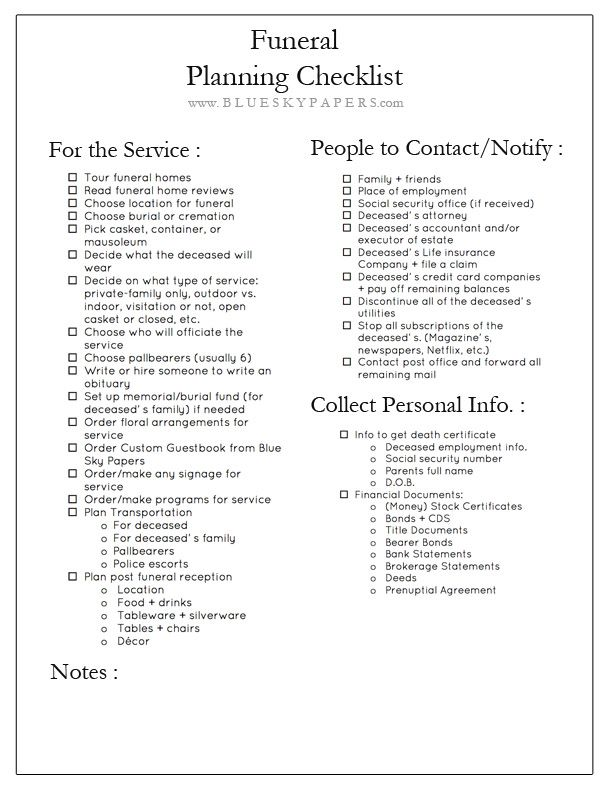 How to Plan a Funeral + Free Funeral Planning Checklist Download