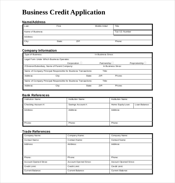 credit application templates   April.onthemarch.co