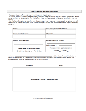 Generic Direct Deposit Form   Fill Online, Printable, Fillable