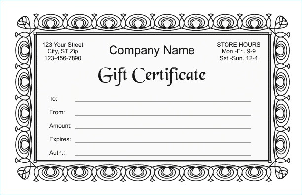 gift certificate template google docs gift certificate template