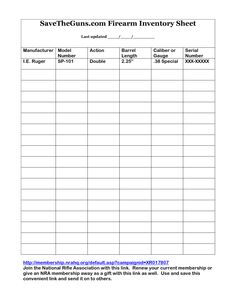 gun inventory form   Cypru.hamsaa.co