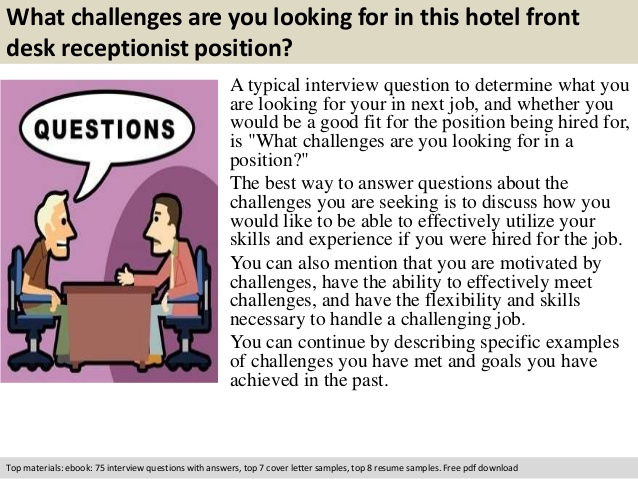 Interview Questions For Front Desk #11424