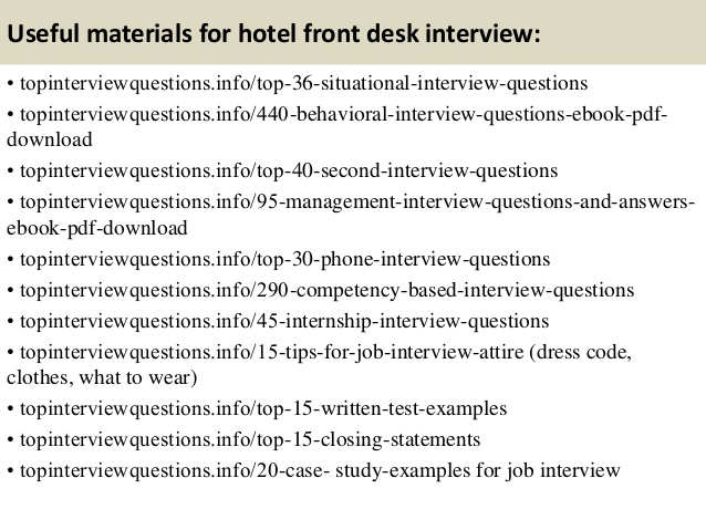 Hotel Front Desk Receptionist Interview Questions 1 638  Cb
