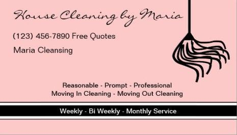 Girly Cleaning Services Business Cards   Page 1   Girly Business Cards