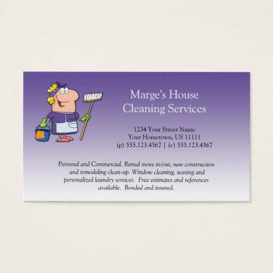 housekeeper business cards   Tier.brianhenry.co
