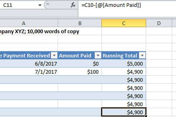 how to keep track of payments received excel   Gecce.tackletarts.co