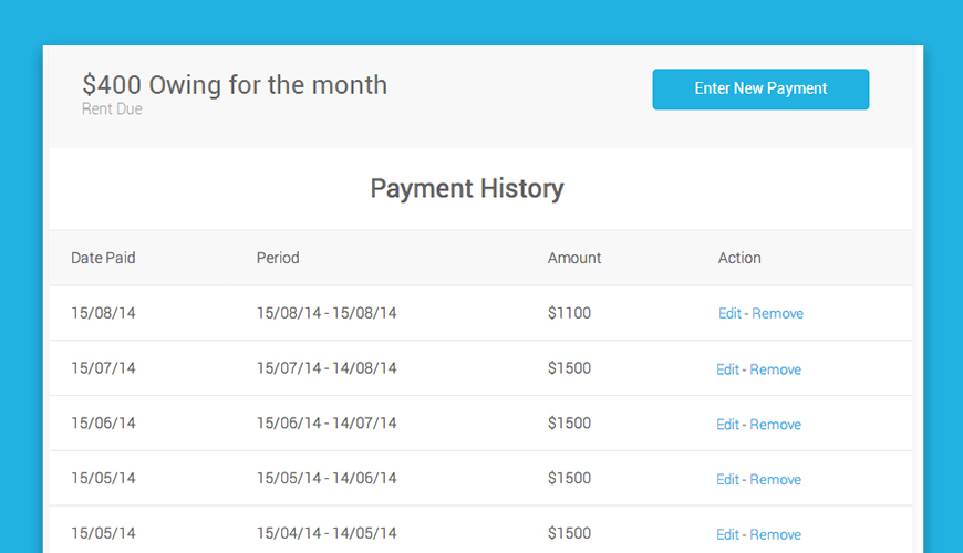 Keep track of payments received by a business with this printable
