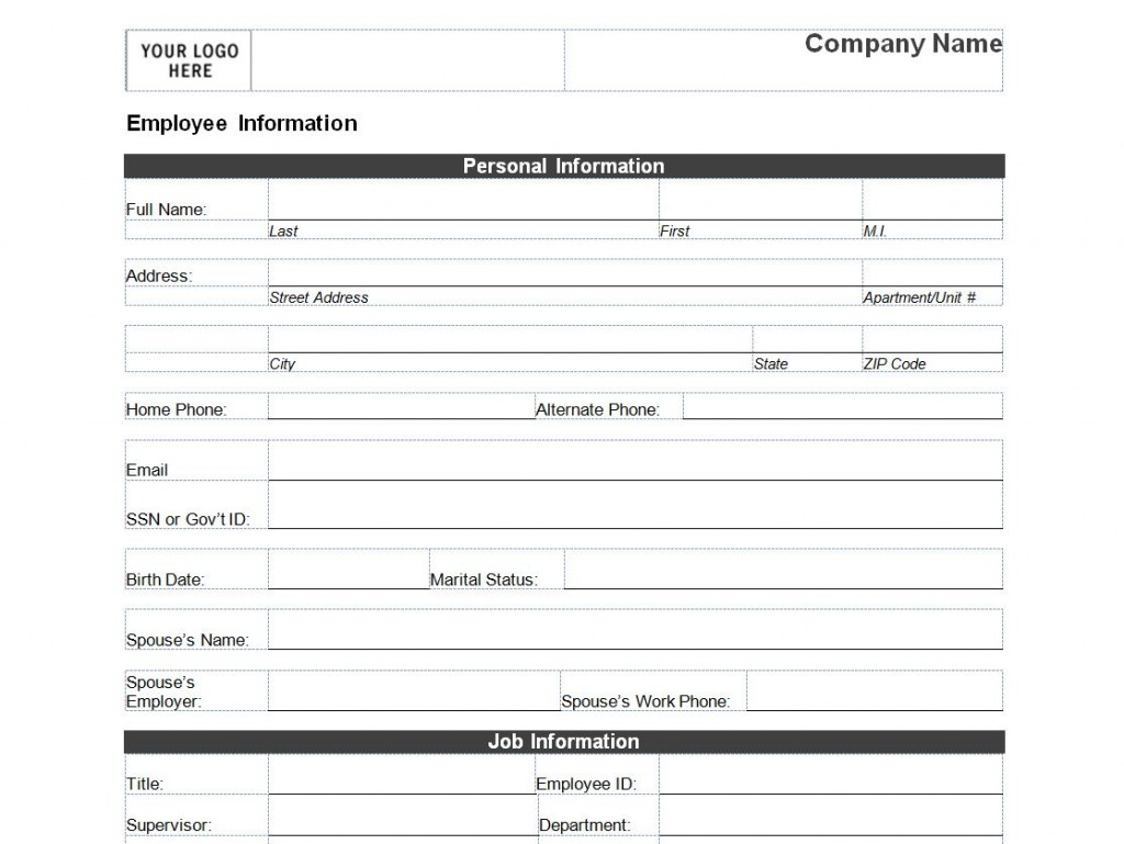 excel template employee information   April.onthemarch.co