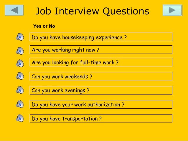 interview questions for housekeeping