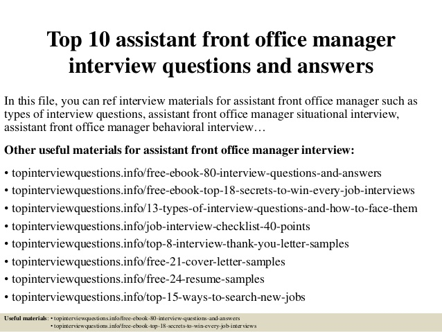 Office Manager Interview Questions   Hiring | Workable