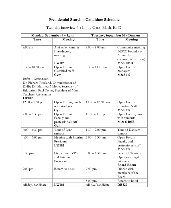 interview schedule template word boatjeremyeatonco