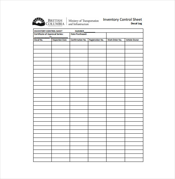 Inventory Sheet Template 14 Free Excel PDF Documents Download