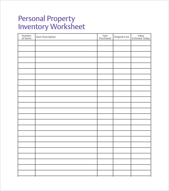 free printable inventory sheets | Here is a preview of the