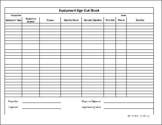 Inventory Sign Out Sheet Template | Inventory Sheet Templates