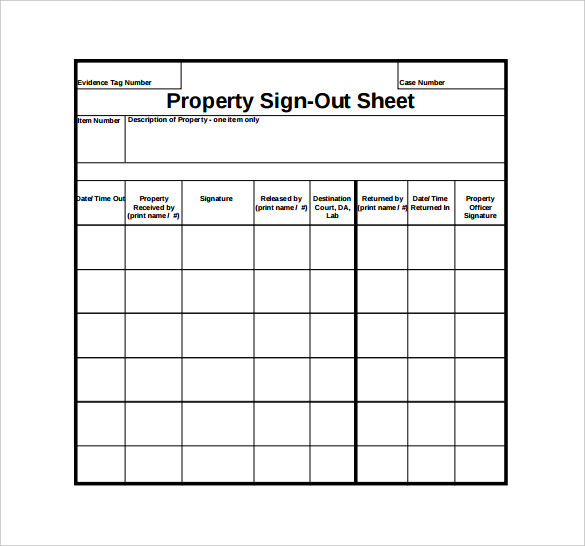 Free Truck Inventory Sign Out Sheet | Templates at