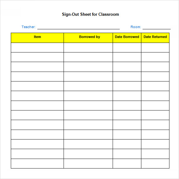 sign out sheet template excel   Boat.jeremyeaton.co