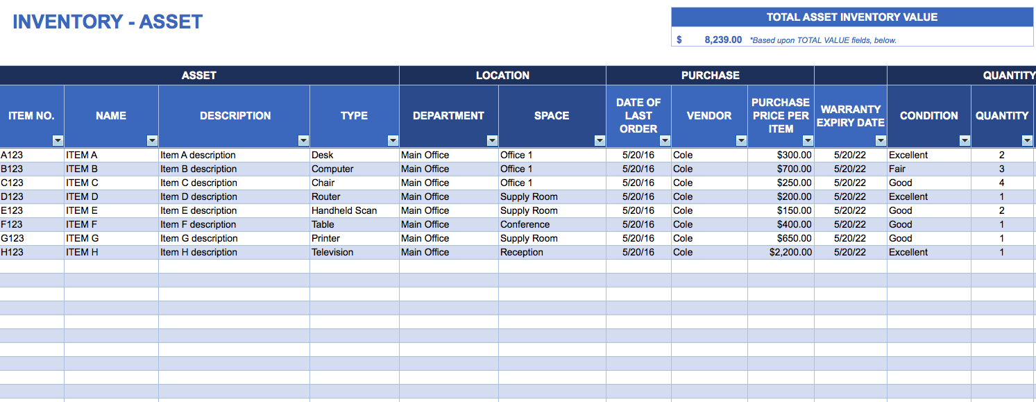 Inventory Template Excel Charlotte Clergy Coalition