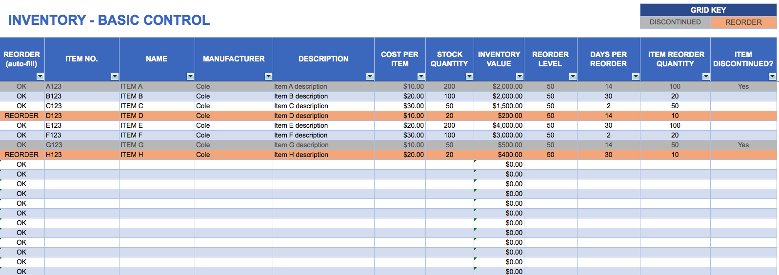 Inventory Template Excel Charlotte Clergy Coalition - How to use excel templates