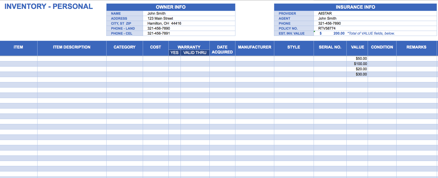 Inventory template excel charlotte clergy coalition inventory template excel maxwellsz