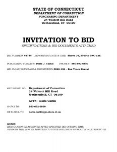 Invitation To Bid Template | charlotte clergy coalition