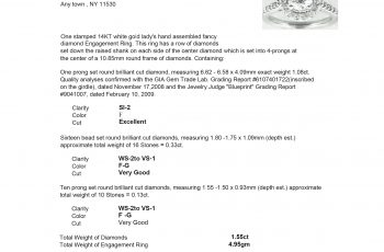 Atv bill of sale template charlotte clergy coalition for Jewelry appraisal form template