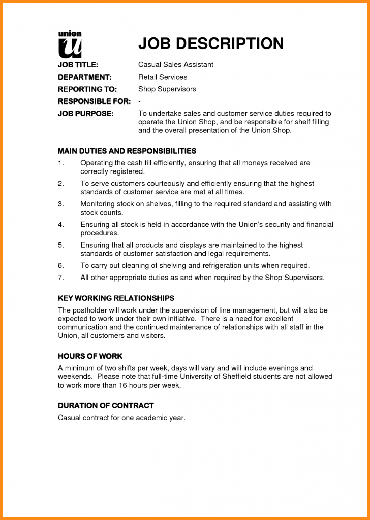 job description template google docs