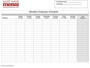 restaurant schedules templates   Tier.brianhenry.co